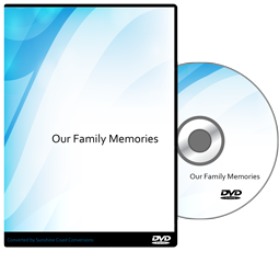 Our family memories dvd case